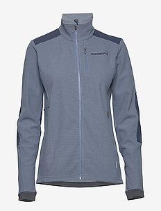svalbard warm1 Jacket (W) - mellanlager i fleece - coronet blue