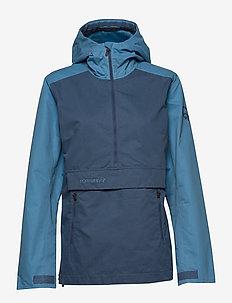 svalbard cotton Anorak (W) - friluftsjackor - heritage blue/coronet blue
