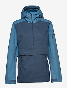 svalbard cotton Anorak (W) - ulkoilu- & sadetakit - heritage blue/coronet blue