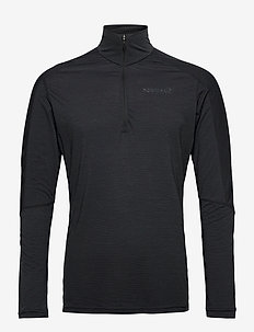 equaliser merino Zip Neck M's - base layer tops - caviar