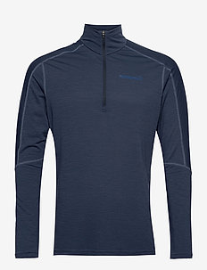 equaliser merino Zip Neck M's - base layer tops - indigo night