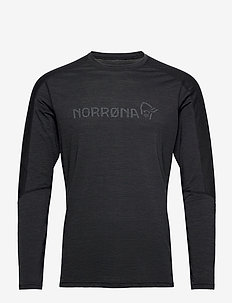 equaliser merino round Neck M's - base layer tops - caviar