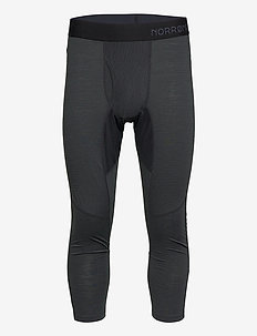 equaliser merino 3/4 Longs M's - base layer bottoms - caviar