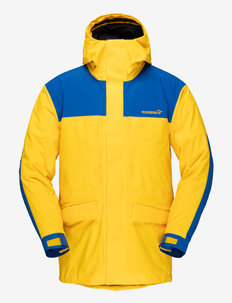 norrna Gore-Tex outdoor Coat Unisex - jakker og regnjakker - lemon chrome