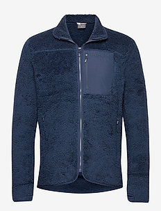 norrna warm3 Jacket M's - mittlere lage aus fleece - indigo night