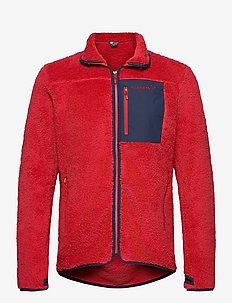 norrna warm3 Jacket M's - basic sweatshirts - jester red