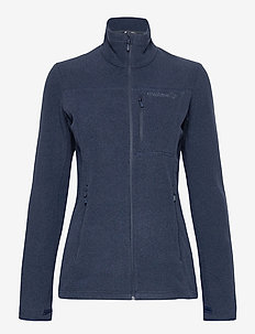 norrna warm2 Jacket W's - fleece midlayer - indigo night