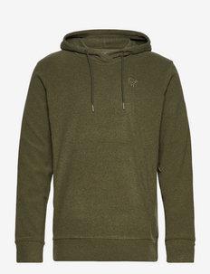 Norrna warm2 Hood M's - basic sweatshirts - olive night