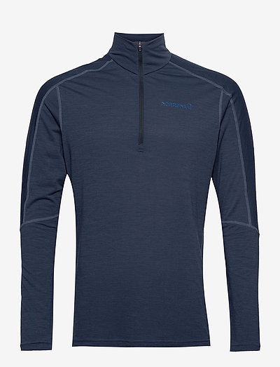 equaliser merino Zip Neck M's - maillot de corps thermique - indigo night