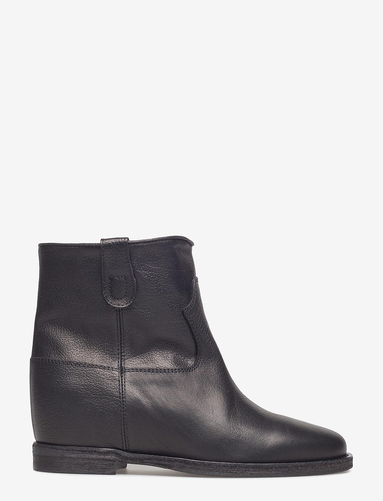 NOTABENE - Isa - ankelstøvletter med hæl - black leather - 1