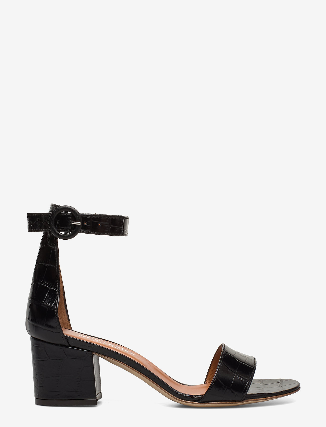 NOTABENE - Lia - høyhælte sandaler - black croco leather - 1