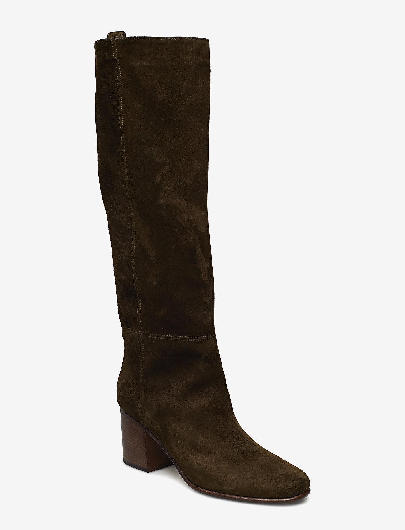 NOTABENE - Samara - høye boots - green suede - 0