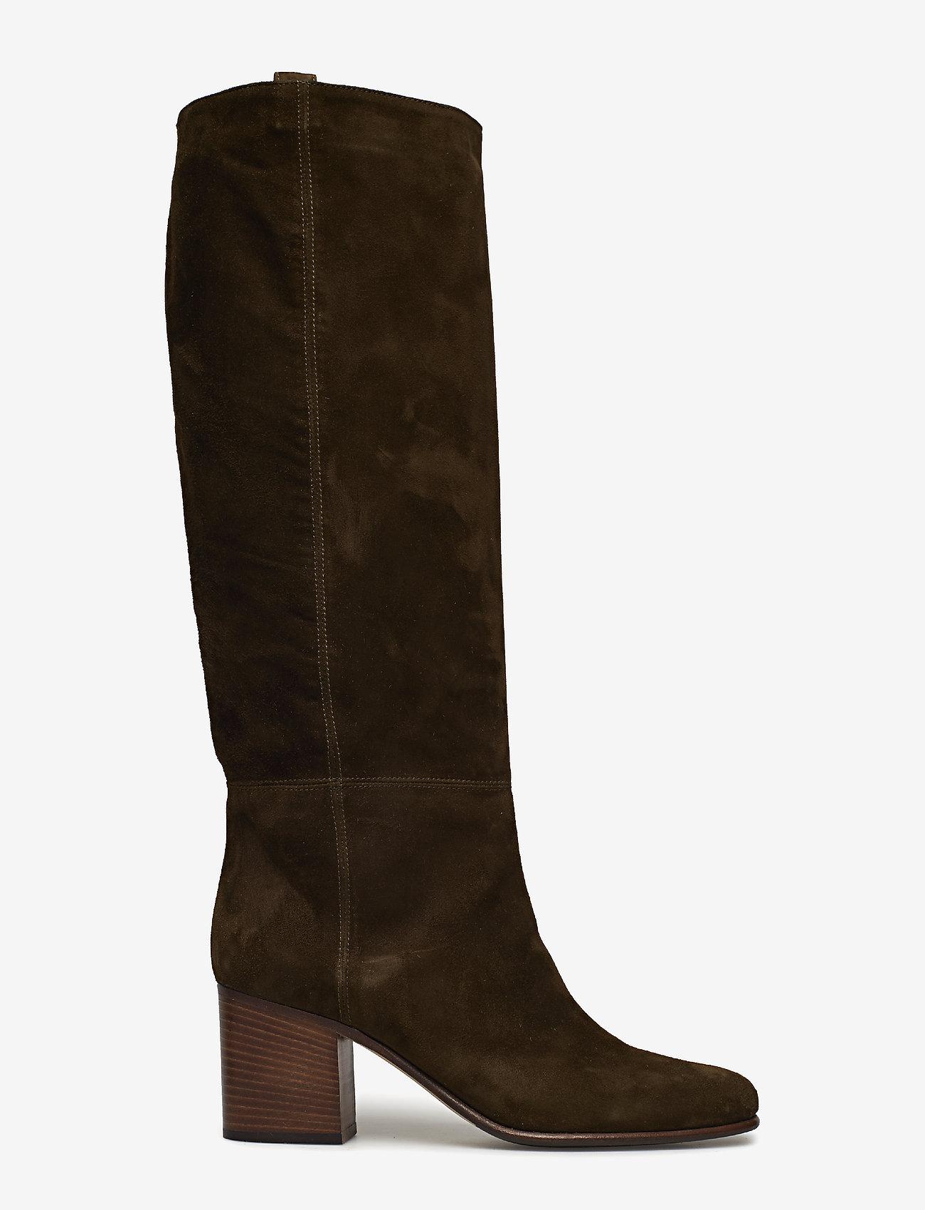 NOTABENE - Samara - høye boots - green suede - 1