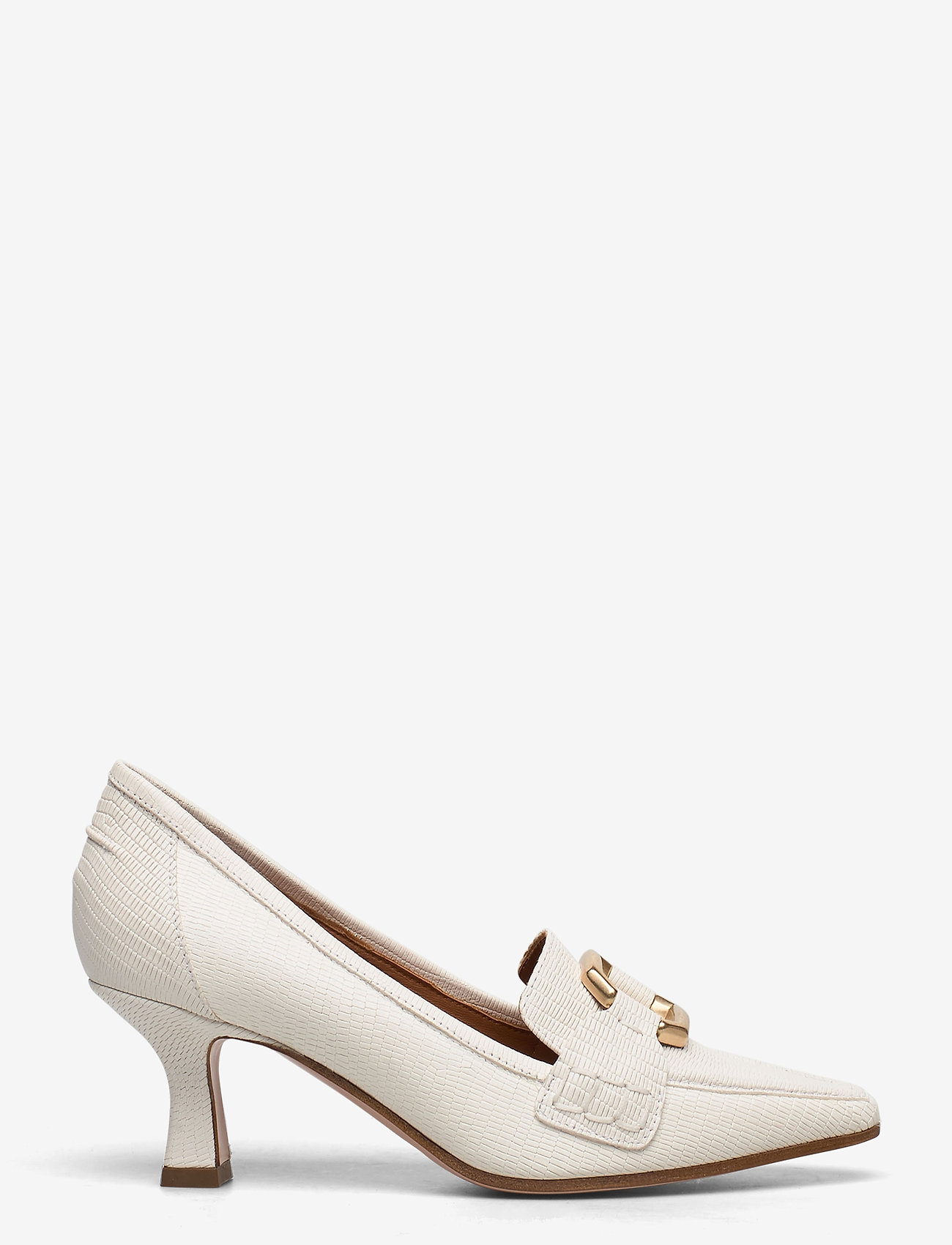 NOTABENE - Ellinor - klassiske pumps - white leather - 1