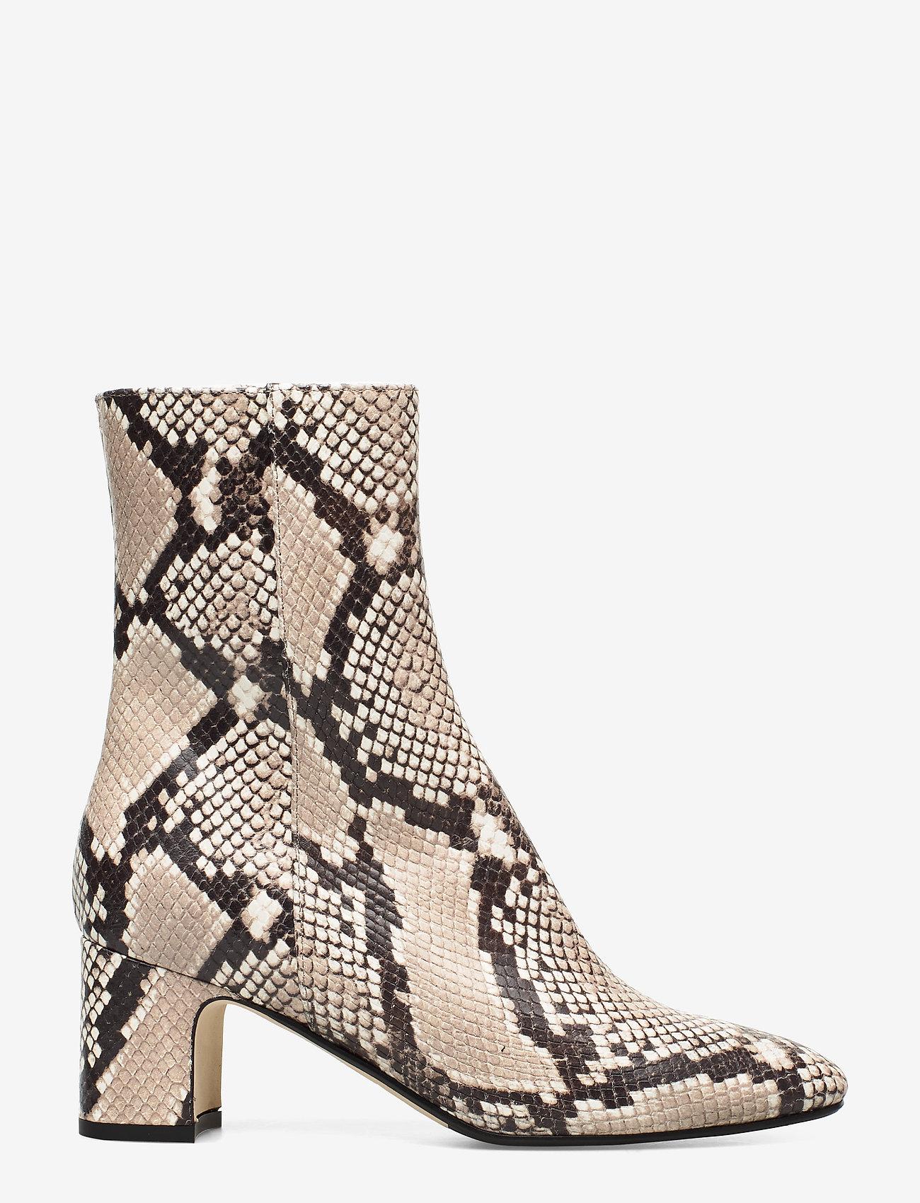 NOTABENE - Floyd - ankelstøvletter med hæl - white snake leather - 1