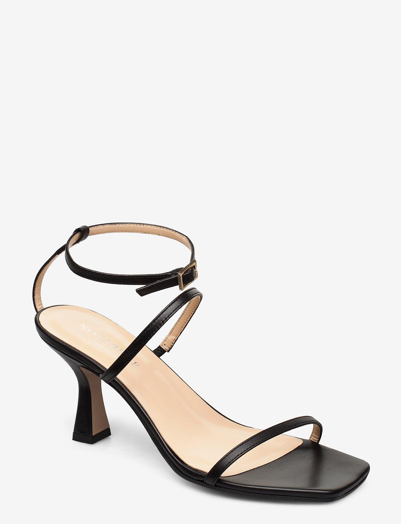 NOTABENE - Eden - høyhælte sandaler - black leather - 0