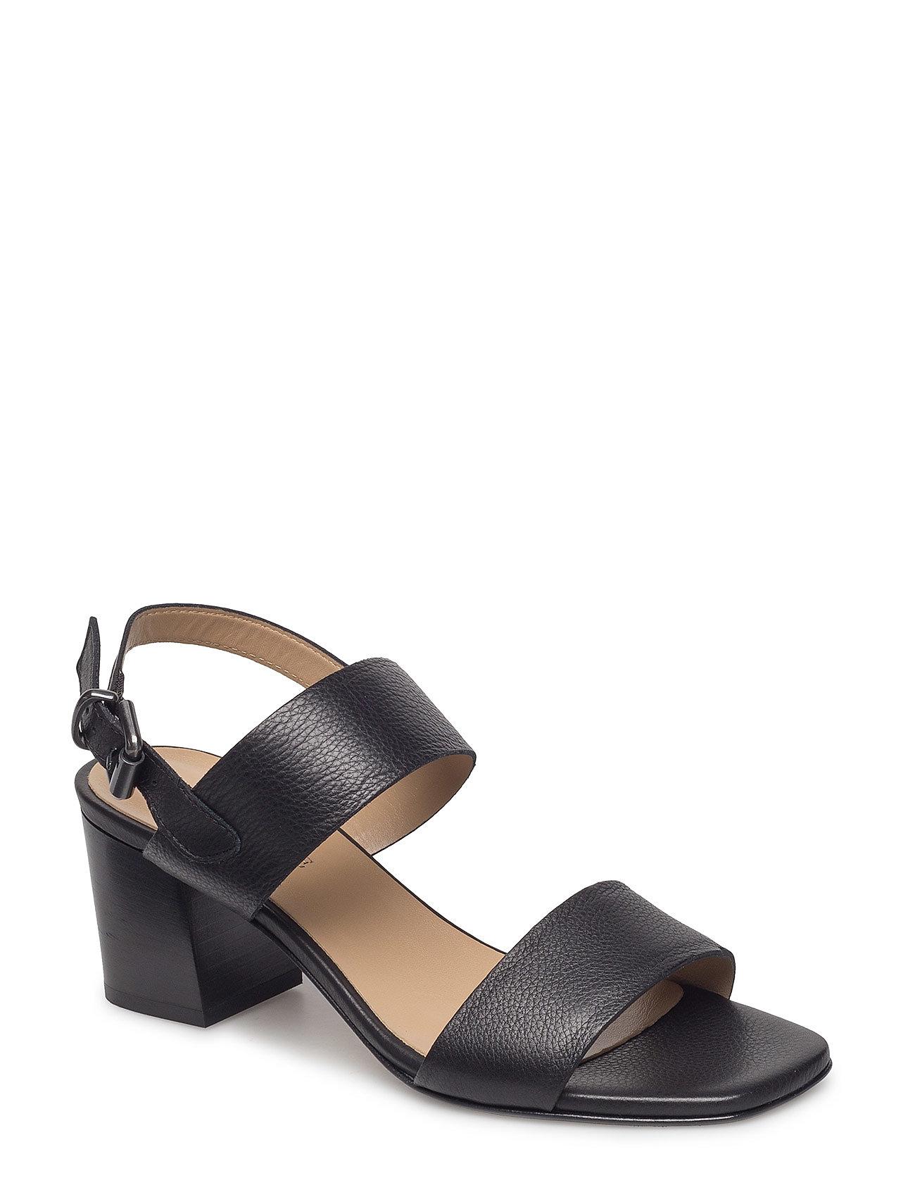 d26e8e3d83b Paola højhælede sandaler fra NOTABENE til dame i BLACK LEATHER ...
