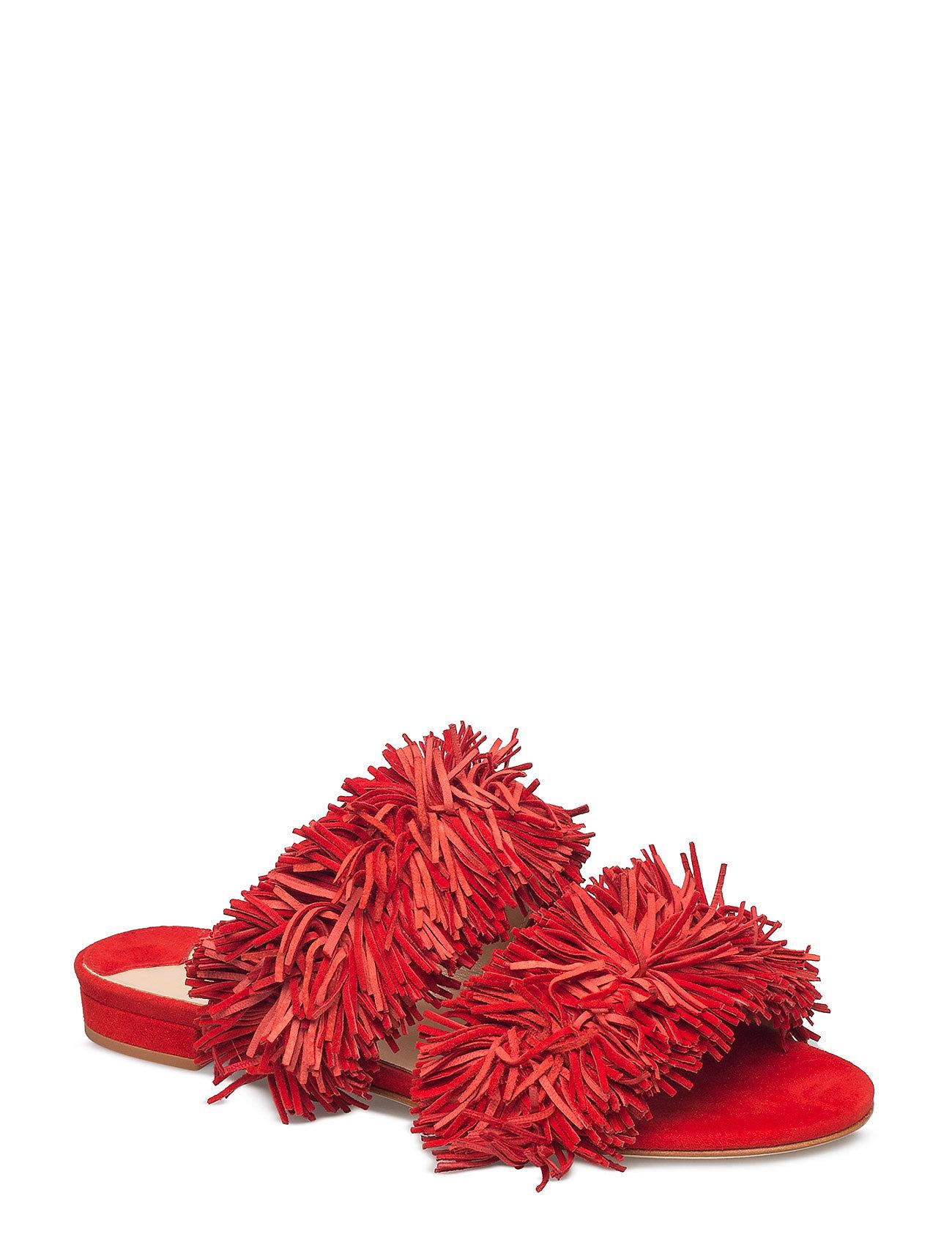 3f047b7d15c RED SUEDE NOTABENE Safira flade sandaler for dame - Pashion.dk