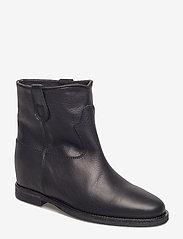 NOTABENE - Isa - ankelstøvletter med hæl - black leather - 0