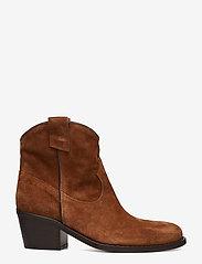 NOTABENE - Anna - ankelstøvletter med hæl - brown suede - 1