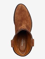 NOTABENE - Anna - ankelstøvletter med hæl - brown suede - 3