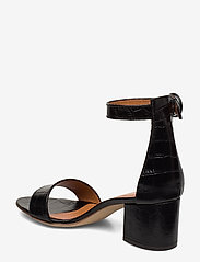 NOTABENE - Lia - høyhælte sandaler - black croco leather - 2