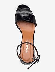 NOTABENE - Lia - høyhælte sandaler - black croco leather - 3