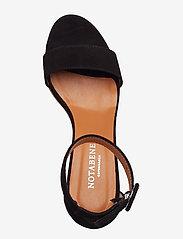 NOTABENE - Lia - højhælede sandaler - black suede - 3