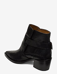 NOTABENE - Aila - ankelstøvletter med hæl - black snake leather - 2