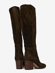 NOTABENE - Samara - høye boots - green suede - 4