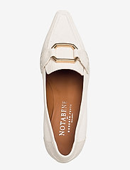 NOTABENE - Ellinor - klassiske pumps - white leather - 3