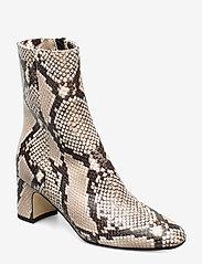 NOTABENE - Floyd - ankelstøvletter med hæl - white snake leather - 0