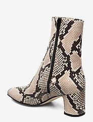 NOTABENE - Floyd - ankelstøvletter med hæl - white snake leather - 2