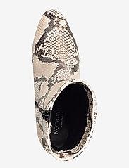 NOTABENE - Floyd - ankelstøvletter med hæl - white snake leather - 3