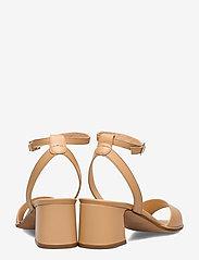 NOTABENE - Naima - høyhælte sandaler - nude leather - 4