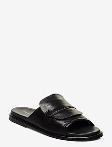Riad - flat sandals - black leather
