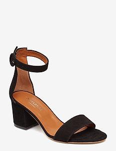 Lia - sandały na obcasie - black suede