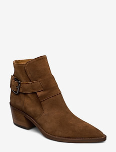 Aila - wysoki obcas - brown suede