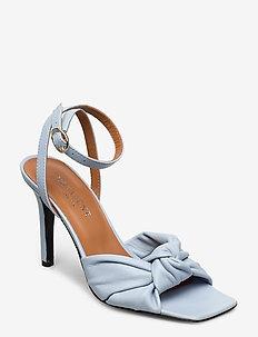 Galica - sandały na obcasie - blue leather