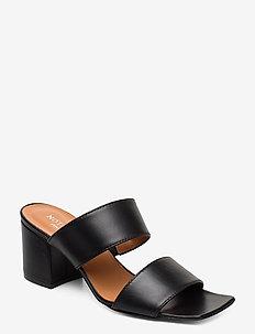 Sina - sandały na obcasie - black leather