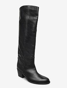 Anca - høye boots - black leather
