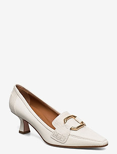 Ellinor - klassiske pumps - white leather