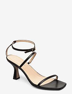 Eden - sandały na obcasie - black leather