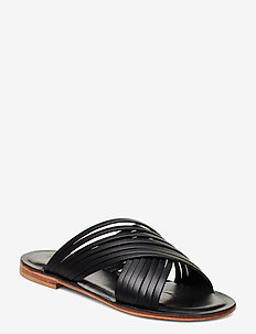 Sahara - płaskie - black leather