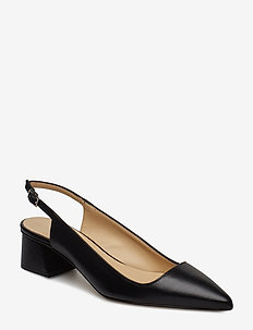 Kami - obcasy typu slingback - black leather