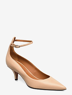 Sonia - klassiske pumps - nude leather