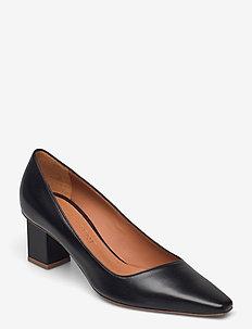 Christie - klassiska pumps - black leather