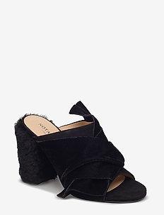 Cher - mules & slipins - black velvet