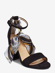 Akira - sandalen met hak - black suede