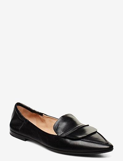 Romy - mokasiner - black leather